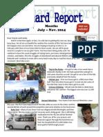 July - Nov. 2014 Newsletter