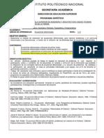 Ecuaciones diferenciales (temario IPN)