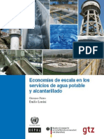 Economias de Escala para servicio de agua y alcantarillado