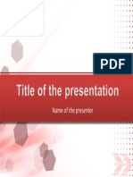 1 Red PowerPoint Title Set