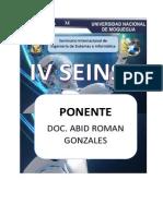 Credenciales de Ponentes SEINSI 2014