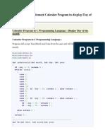 c Typical Program