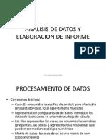 Anális de datos y elaboración de informe
