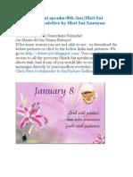 Shri Shirdi Sai Speaks for 8th Jan