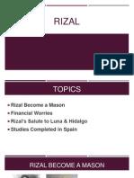 RIzal Report as a mason