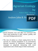 Agrarian Ecology