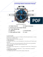 Sound Activated HD Spy Watch Instruction Manual