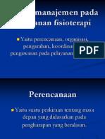 Fungsi Manajemen Dalam Pelayanan Fisioterapi