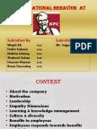 Organizational Behavior at KFC