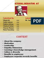 Organizational Behavior at KFC