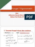 Turunan Fungsi Trigonometri