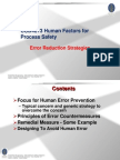 Human Factor_Error Reduction Strategies