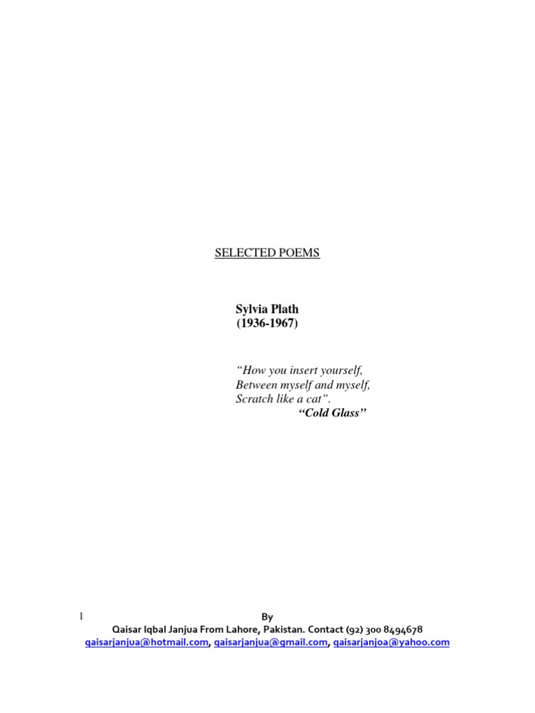 a literary analysis of and as a poet by sylvia plath Sylvia plath: a literary life examines the way plath made herself into a writer close analysis of plath's reading and  as a major poet, plath deserves to.