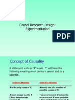 Causal Research Design and Experiment