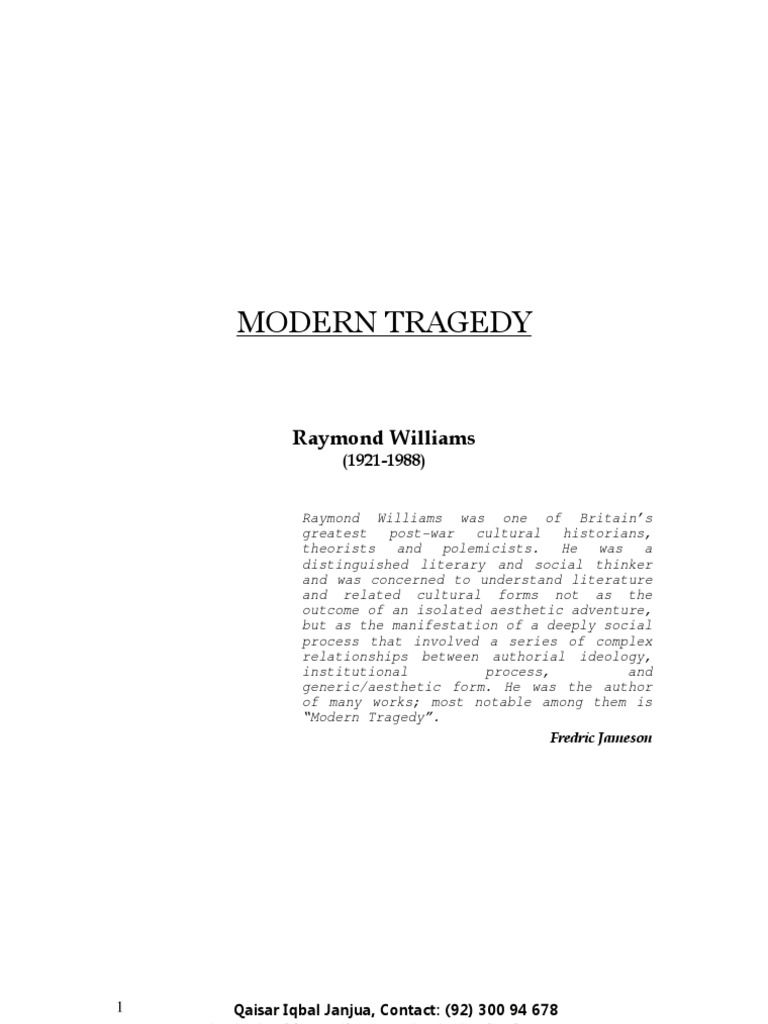 modern tragedy The tragedy of the commons is a term used in social science to describe a situation in a shared-resource system where individual  in this modern economic .