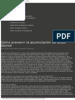 Cómo Prevenir La Acumulación de Ácido Láctico _ Salud y Bienestar