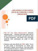 Evaluarea La Valoarea Justa in Conditiile Crizei Financiare 2