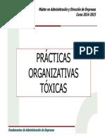 Prácticas organizativas tóxicas
