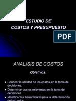 Analisis de Costos y Presupuestos