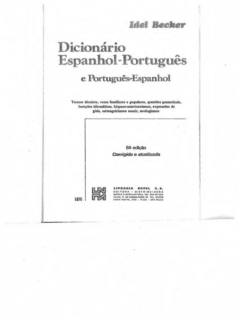 DicionrioEspanhol PortugusPortugus Espanhol Text 120a04d665