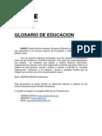 EHIGE_GLOSARIO DE EDUCACION