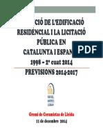 Situació de l'edificació residencial i la licitació pública a Catalunya i Espanya 1998-2014