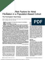 Independant Risk Factors for Atrial Fibrillation in a Population-Bases Cohort