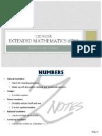 Mathematics Extended Flashcards