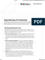 Hypnotherapy for Dummies Cheat Sheet - For Dummies