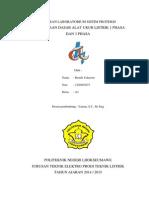 Laporan Praktikum Sistim Proteksi Penggunaan Dasar Alat Ukur Listrik 1 Phasa Dan 3 Phasa