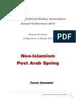 Neo Islamism Post Arab Spring Tarek Chamkhi