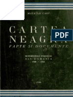 Cartea Neagra, Suferintele Evreilor Din Romania, Vol 1, 1946