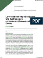 Catalan M Consecuencialismo Dewey