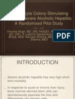 G-CSF in alcoholic hepatitis