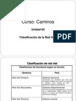 Clasificación de la Red Vial