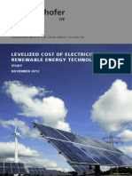 Fraunhofer-IsE LCOE Renewable Energy Technologies