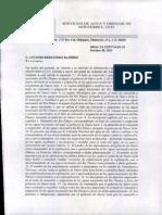 Respuesta de Agua y Drenaje de Monterrey.