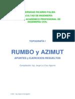 Rumbo y Azimut-Apuntes Con Ejercicios