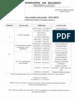 Structura Anului Universitar 2014-2015
