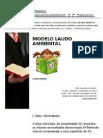 Curso de Perito - IPED - Modelo Laudo Ambiental