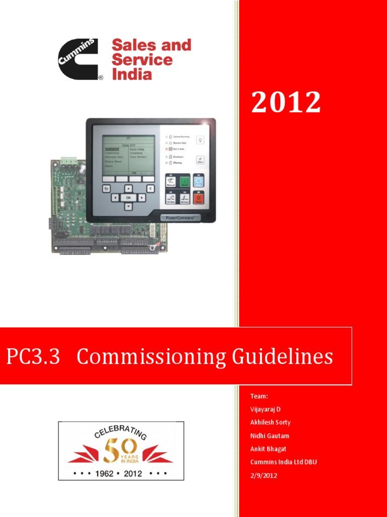 pc 3 3 commissioning guidelines ver 1 1 pdf daylight saving time rh scribd com 2017 Cummins Manual Instruction Manual Cummins