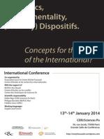 Biopolitics Governmentality Security Dispositifs 2014