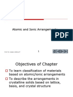 Atomic and Ionic Arrangements