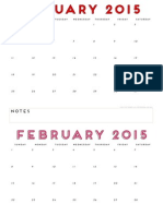 2015 Printable Calendar by the Twinery