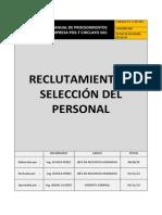 Formato Procedimiento Reclutamiento y Seleccion