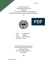 Laporan Praktikum Laboraturium Lingkungan (1 Metode Sampling)