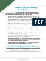 Bank Modeling Course Outline Offer