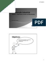 Manutenção Industrial - Seção 2 - Diferentes Formas de Manutenção