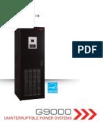 G9000 New Brochure Toshiba Flywheel UPS