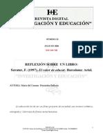 El Valor de Educar de Fernando Savater